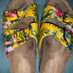 Shoes - Abound cool tropical summer wedges